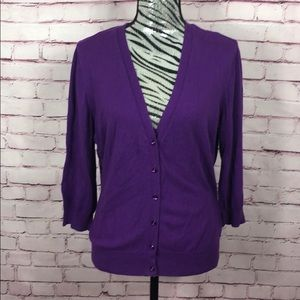 New York & Company Purple Cardigan Sz XL